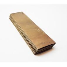 Лист латуни 0,5 мм 6х15см