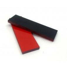 G-10 Черно-красный.  Пара накладок 8*40*140 мм