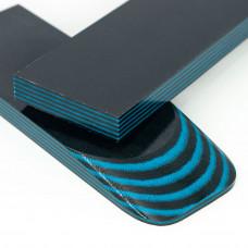 Микарта #Amur (черно-синяя) пара накладок (2 шт.) 10* 135*45