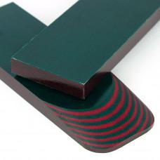 Микарта Gekkon (зелено-красный) пара накладок ( 2шт.) 9*45*135 мм