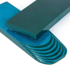 Микарта Одисей (зелено-синий) пара накладок ( 2шт.) 8*45*130 мм