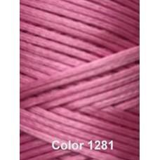 Нить вощеная Dafna 1 мм. Розовый 1281