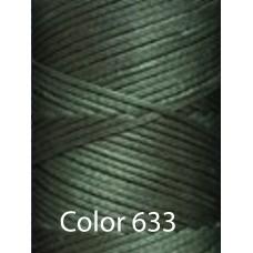 Нить вощеная Dafna 1 мм. Темно зеленый 633