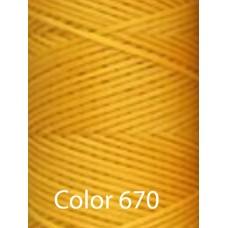Нить вощеная Dafna 1 мм. Желтый 670