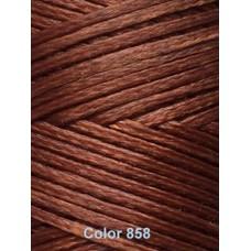 Нить вощеная Dafna 1 мм. Светло-коричневый 858