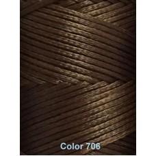 Нить вощеная Dafna 1 мм. Светло-коричневая 706