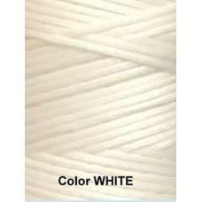 Нить вощеная Dafna 1 мм. Белый (White)