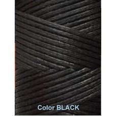 Нить вощеная Dafna 1 мм. Черный (Black)