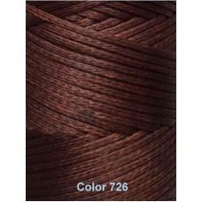Нить вощеная Dafna 1 мм. Светло-коричневая 726
