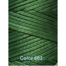 Нить вощеная Dafna 1 мм. Зеленая 603