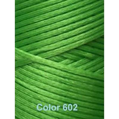 Нить вощеная Dafna 1 мм. Зеленая 602