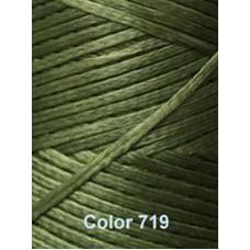 Нить вощеная Dafna 1 мм. Зеленая 719
